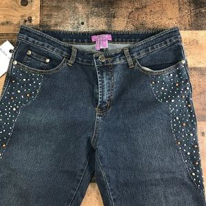 ahola usa Jeans - AHOLA USA JUNIORS OR WOMEN'S DARK WASH  FLAR 13-14